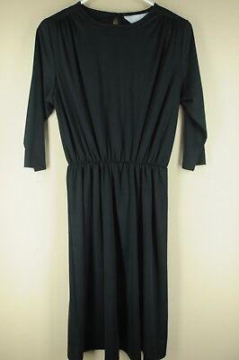 Vintage Blair Women's Black Polyester 80's Dress Size 6P Petite