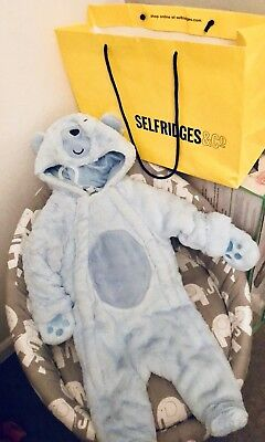 Selfridges Pramsuit 3-6m BNWT £65 GIFTBAG INC