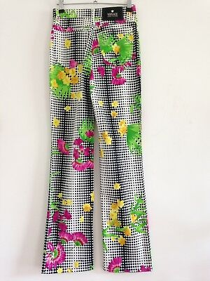 Rare Vintage Versace Jeans / Printed Graphic Floral Pattern / Couture / Size 27