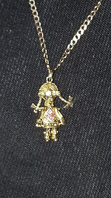 9ct gold rag doll pendant and 20 gold chain nearly new 9ct gold rag doll pendant and 20 gold chain nearly new condition mozeypictures Images