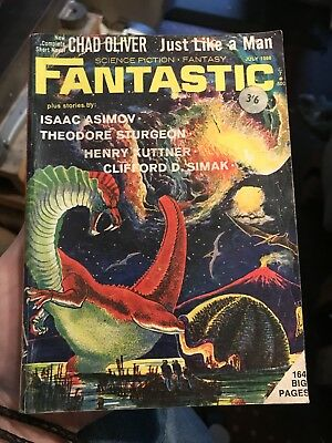Fantastic Science Fiction Fantasy Magazine - Isaac Asimov / Chad Oliver 1966