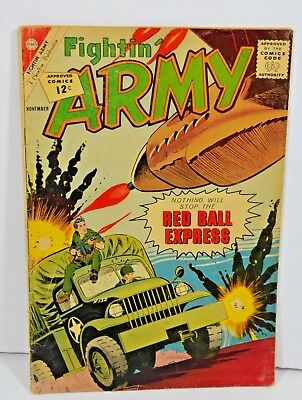 Charlton Comics Fightin Army November 1962 Old Vintage Comic Book