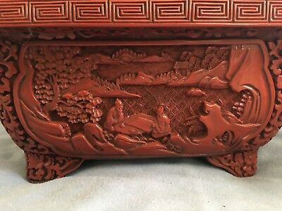 Antique chinese lacquer ware narcissus flower pot