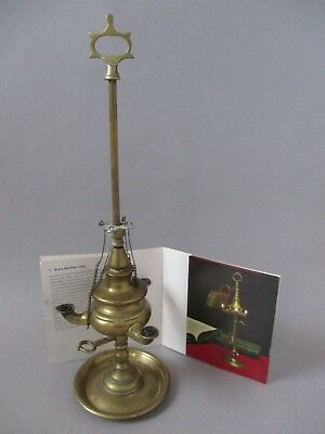 An Antique Brass Oil Student Reading Lamp 'Lucernas' ~ Italy / The Netherlands
