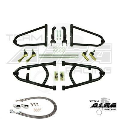 "Raptor 700  Long Travel A Arms  +2"" wider per side Lines Clamps  Alba Racing 17"