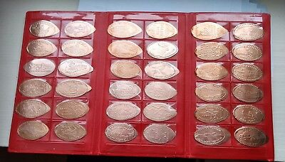 36 Count Elongated Copper Penny Collection Complete with Display Book