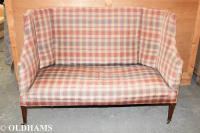 Lovely Antique Edwardian High Backed and Wing Sided Hall Sofa