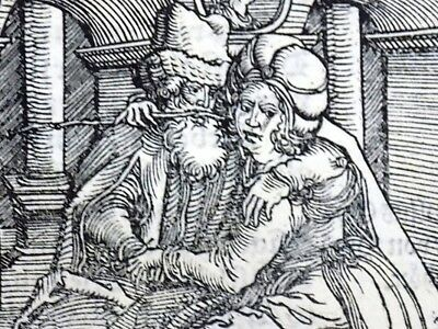 1532 Master of Petrach - Hans Weiditz woodcut - Love and its Pain