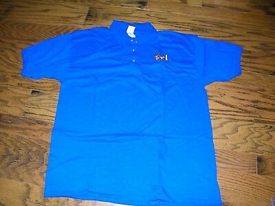 Men's Blue Polo  Shirt Ted a Part of United Airlines Size XXL 2XL