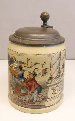 Antique Villeroy & Boch Mettlach 1526  35 19 PUG Hand Painted German Beer Stein