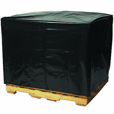 "Box Partners Pallet Covers 2 Mil 48"" x 40"" x 100"" Black 50/Case PC545"