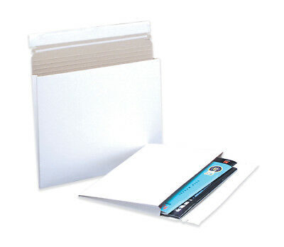 "Box Partners Gusseted Flat Mailers 12 1/2"" x 9 1/2"" x 1"" White 100 EACH/Case"