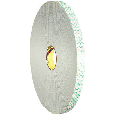 "3M 4008 Double Sided Foam Tape 1/2"" x 36 yds. 1/8"" Natural 1/Case T95340081PK"