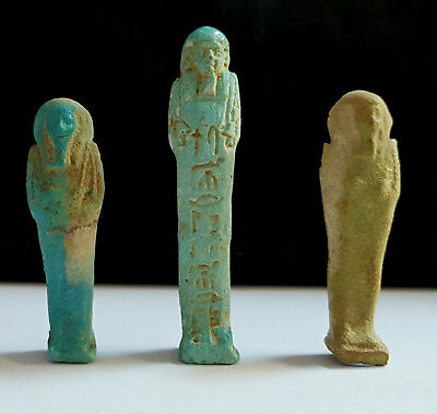 Group of Egyptian Faience Ushabtis Shabtis