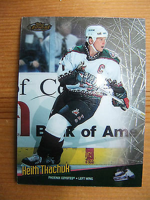 shinny 1999 topps finest  Trading Cards keith tkachuk phoenix coyotes