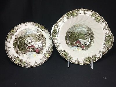Johnson Brothers Friendly Village Round Covered Vegetable Bowl (Covered Bridge)