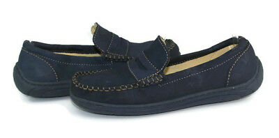 9a728ee9148 Primigi Women s Navy Blue Leather Moccasin Penny Loafers Size EU 35  US 4