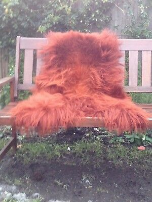 Real icelandic sheepskin rug colour red/dyed 120/-70cm
