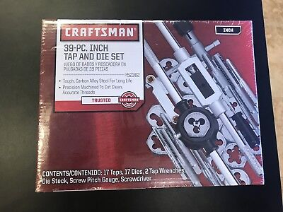 Craftsman Tools 52382 - 39 Piece Tap And Die Set - NEW - Free Shipping!