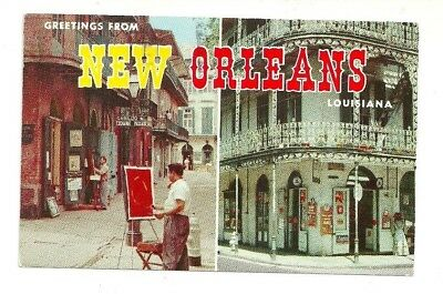 Greetings from new orleans louisiana postcard 200 picclick greetings from new orleans louisiana chrome postcard m4hsunfo