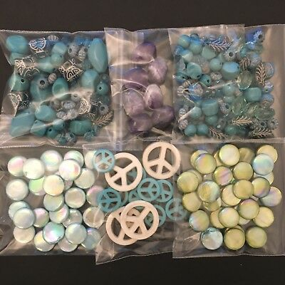 Large Assortment Lot of Mixed Jewelry Making Supplies Crafts Stones and Beads!