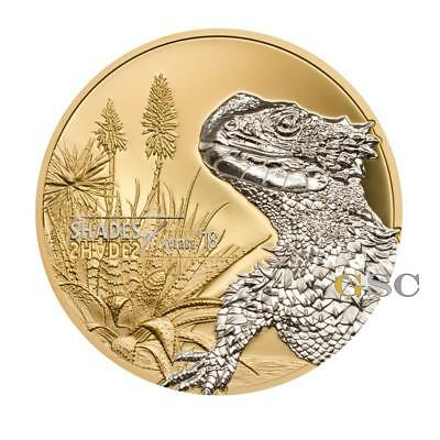 Cook Islands 2017 5$ Sungazer Lizard Shades of Nature silver coin
