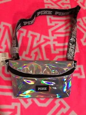 NEW Iridescent Victoria's Secret Pink Fanny Pack,Spring Break Limited Edition