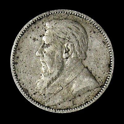 1894 South Africa One Shilling Silver Coin KM# 5