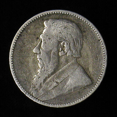 1895 South Africa One Shilling Silver Coin KM# 5