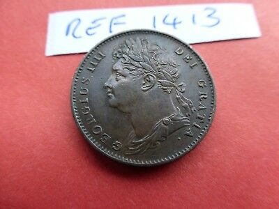 George iv Farthing coin 1822  good grade     Ref 1413