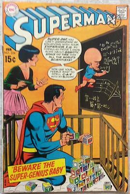 Superman #224 (1970 DC 1st series) VG+ condition 46 yrs old Bronze Age