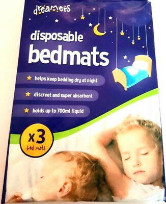 3x Absorbant Disposable Bed Mats Baby Toddler Elderly Incontinence Bed Wetting