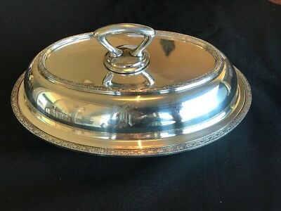 Antique Wallace Silverplate Serving Dish with Lid and Removable Handle