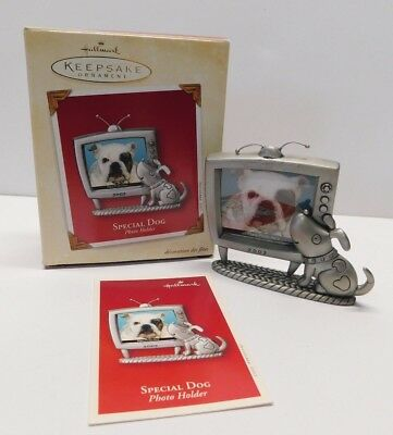 Hallmark Ornament 2003 Special Dog Photo Holder * Pewter  ** FREE SHIPPING **