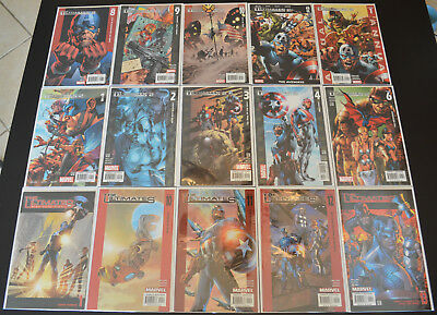 THE ULTIMATES (15-Book) Marvel Comic LOT #1 10-13, ULTIMATES 2 1-4 6 8-10 12 NM+