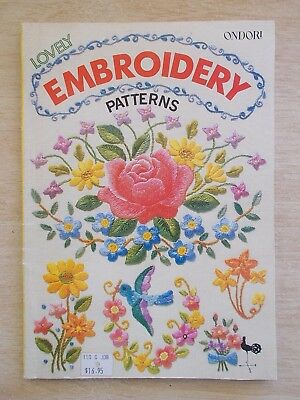 Ondori~Lovely Embroidery Patterns~97pp P/B~1979