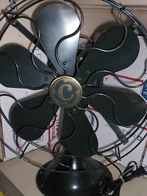 Vintage  Commandair Fan  13 In. 6 Blade  3 Speed -  Excellent Condition