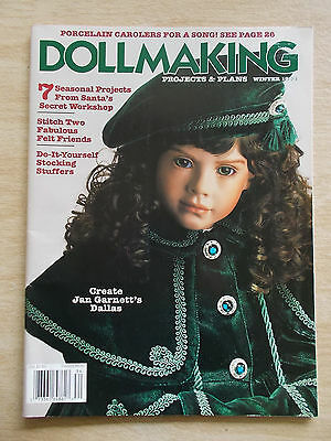 Dollmaking~Winter 1993~Xmas~Russian~Angel~Knit Stockings~Sew Shoes~Chatelaines..