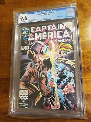 Captain America Annual 8 Wolverine Cgc 9.6 White Pages 1986