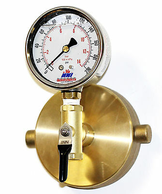"NNI 2-1/2"" NST Fire Hydrant Static Pressure 200Psi Gauge with Bleeder valve"