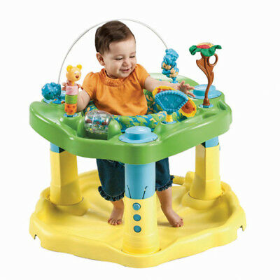 Evenflo ExerSaucer Delux Active Learning Center Zoo Friends Rock Spin Bounce