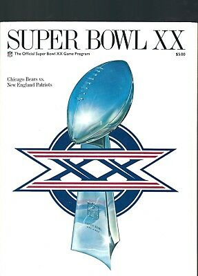 Super Bowl 20 Game Program Bears V Patriots 1986.