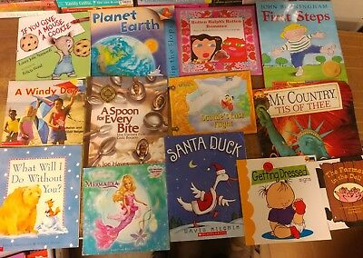 Lot of 50 K-5 Scholastic Learn to Read Picture Mix Set Kid Children Book #G06 NR