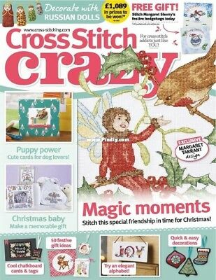CROSS STITCH CRAZY Magazine no 236, Bonus 3-IN-1 card Kit, Russian Dolls (NEW)