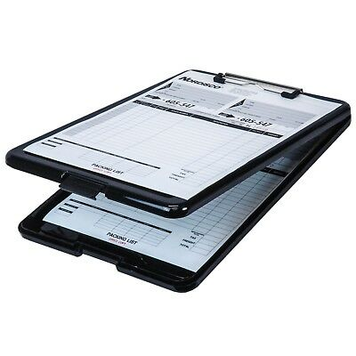 Business Source 37513 Clipboard With Storage, Black Plastic, 13-3/8 x 9-1/2""