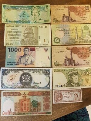 WORLDWIDE BANK NOTES - Various Regions and Conditions - Ten in total