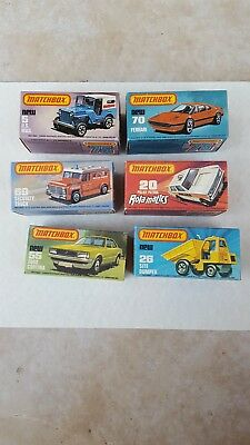 Vintage Matchbox Lot of six Lesney cars (new old store stock)
