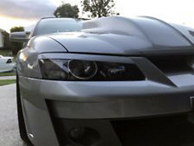 Abs Plastic Vy Vz Holden Commodore/hsv Head Light Eye Lid/ Eye Brows Ss/s/r8/gts