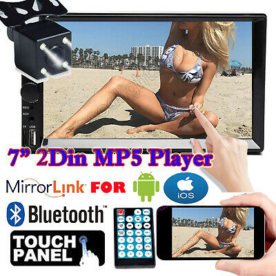 "Camera+7"" Double Din Car Stereo Radio MP5 Player 1080p Mirrors For Android & IOS"