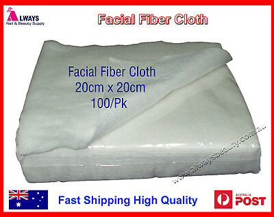 Fibrella Disposable Facial Cleaning Cloth 100 Sheets 20cm x 20cm OZ Seller